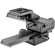 Neewer 10033981 Pro 4-Way Macro Focusing Focus Rail Slider/Close-Up Shooting for Canon Nikon, Pentax, Olympus, Sony, Samsung and Other Digital SLR Camera, Black
