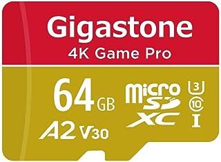 【5年保証】Gigastone Micro SD Card 64GB マイクロSDカード A2 V30 4K UHD ビデオ 録画 高速 4K ゲーム 95MB/s SDXC UHS-I U3 Class 10 micro sd カード Nin...