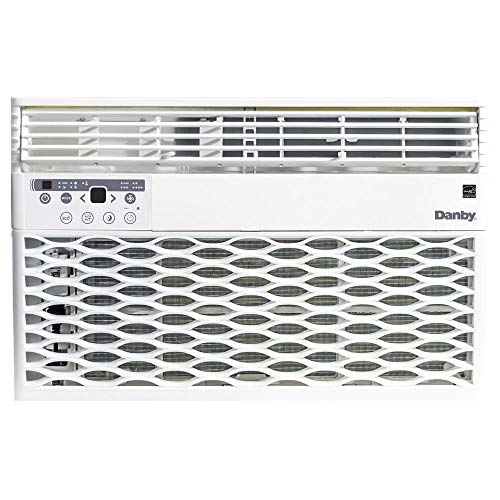 Danby DAC060EB6WDB 6,000 BTU Energy Star Window Air Conditioner, Programmable Timer, LED Display and Remote Control, Ideal for Rooms Up to 250 Square Feet, in White, 6000
