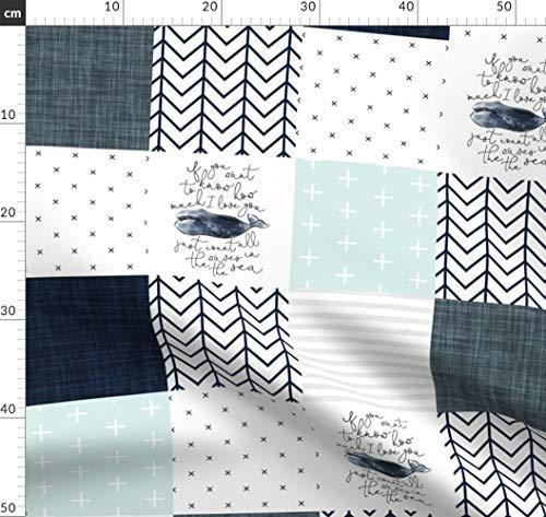 Wal, Wale, Babydecke, Quilt Stoffe - Individuell Bedruckt von Spoonflower - Design von Ivieclothco Gedruckt auf Bio Baumwoll Interlock-Jersey