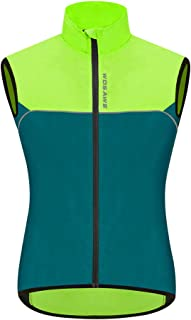 WOSAWE Cycling Vest Lightweight Windbreaker Reflective Gilet for Hiking Runing Fishing