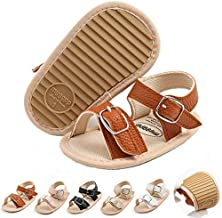 Baby Boy Sandals Summer Infant Toddler Baby Walking Shoes Soft Rubber Sole Non-Slip Flat Shoes First Walkers Prewalkers