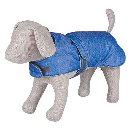 TRIXIE Hundemantel für Hunde, Kleidung, Haustiere, Umhang, Weste, groß, klein, mittelgroß, 45 cm, Blau