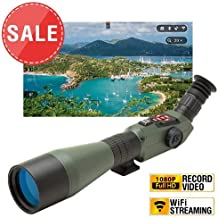 theOpticGuru ATN X-Spotter HD, 20-80x, Smart Day & Night Smart HD Spotting Scope w/1080p Video, Geotagging Rangefinder, WiFi, E-Compass, E-Zoom, 3D Gyroscope, iOS & Android Apps