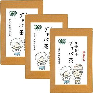 がばい農園 有機栽培 グァバ茶 2g×40包 (お得な3個セット) オーガニック お茶 ノンカフェイン 健康茶 ティーバッグ
