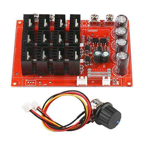 Motor Controller, DROK PWM DC Motor Speed Controller 10-50V 60A High Power HHO RC Driver PWM Controller Module 12V 24V 48V 3000W Extension Cord with Switch