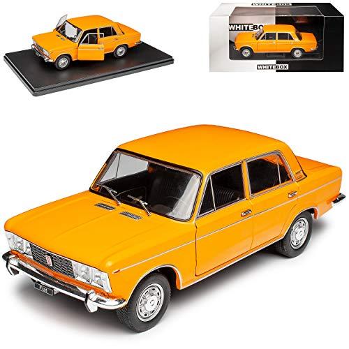 NEW FIAT 125 Limousine Orange 1967-1972 1/24 Whitebox Modell Auto