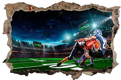 DesFoli Football USA 3D Look Wandtattoo 70 x 115 cm Wanddurchbruch Wandbild Sticker Aufkleber D605