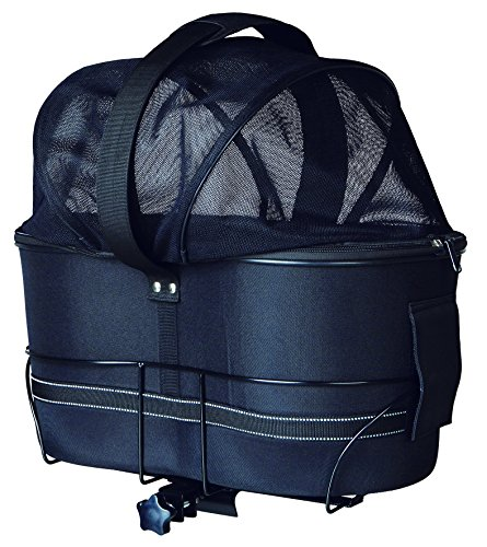 Trixie 13118 Fahrradkorb für breite Gepäckträger, 29 × 42 × 48 cm, schwarz