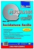 Parodi&Parodi Duplolana, Suelos de Lana de poliéster, diámetro 430 mm, Listo para ser aplicado al Disco arrastrador, Ideal para reavivar la Cera, Ninguno