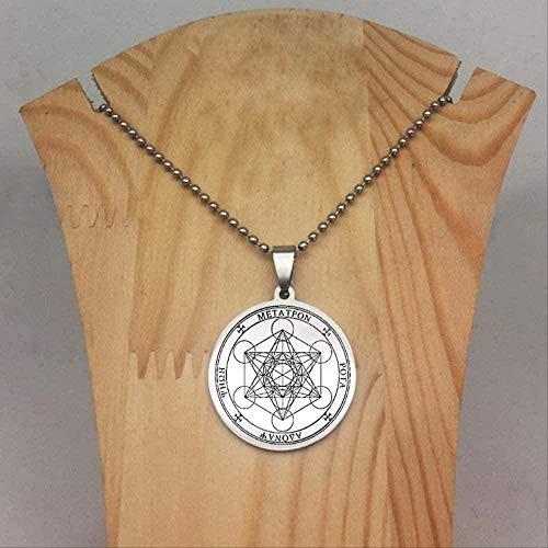 ZJJLWL Co.,ltd Collar Sellos Collar de Arcángel Cadena Larga Cadena Disco Collares de ángel Joyería Hombres y Mujeres