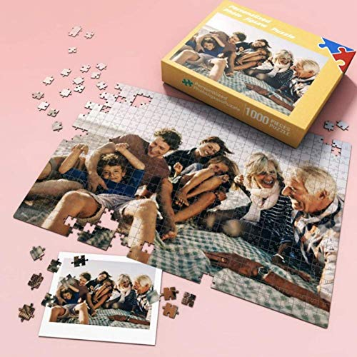 Custom Photo Jigsaw Puzzle 300 500 1000 Pieces for Adults - Personalized Photo Funny Gifts Custom Puzzles from Photos for Kids Mother's Day DIY Gift Stay at Home Wedding Gifts Family Love Friends