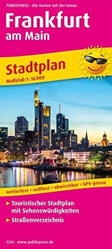 Frankfurt am Main: Touristischer Stadtplan mit Sehenswürdigkeiten und Straßenverzeichnis. 1:16000 (Stadtplan: SP)