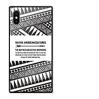 iPhoneSE(第2世代) ケース se2 強化ガラスケース iPhoneSE2 ケース 背面ガラス TPU 光沢 ツヤ スクエア スマホケース おしゃれ ネイティブ native 柄 オルテガ 白黒 選べる10デザイン A chattenoir
