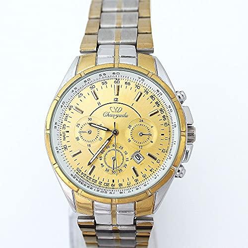 MZY118 Reloj de Pulsera para Hombres, Relojes de Cuarzo de Metal Reloj de Pulsera de Diamantes Relojes de Pulsera Masculinos con números Romanos