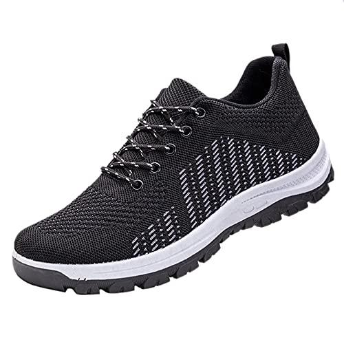 Zapatillas de correr para hombre, transpirables, para caminar, tenis, gimnasio, atlético, casual, deporte, fitness, entrenamiento, antideslizantes, zapatos planos para correr, Gray, 39 2/3 EU