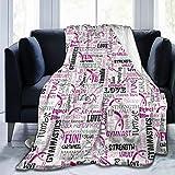 XTGOO Gymnastics Pink Ultra-Soft Fleece Blanket Flannel Velvet Plush Throw Blanket
