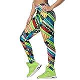 Zumba leggings de fitness cintura alta entrenamiento baile compresión pantalones mujer, get in lime, xs