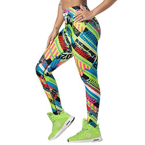 Zumba Leggings de Fitness Cintura Alta Entrenamiento Baile Compresión Pantalones Mujer, Get in Lime, S