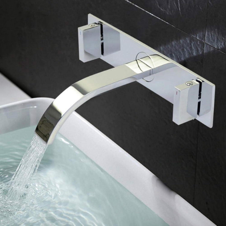 Gorheh Waschbecken Wasserhahn Armaturen Wand Waschbecken Mischbatterie Messinghahn Chrom Waschbecken Wasserhahn Wasserfall Armaturen Mischbatterien