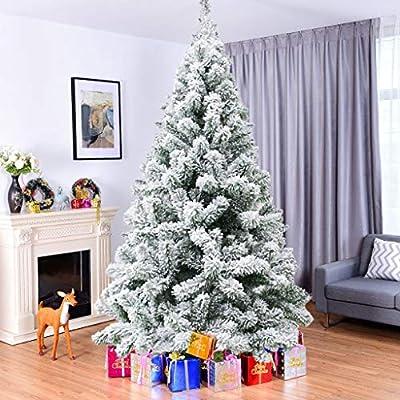 Amazon - Save 80%: Artificial Christmas Tree – Flocked Decoration Fake Christmas Tree for Small…