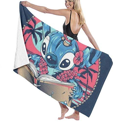Suzanne Betty Lovely Stich Toallas de playa para baño o piscina, 81 x 132 cm para mujeres, niños, niñas, niños, adultos, hombres y mujeres, bonito Stich2