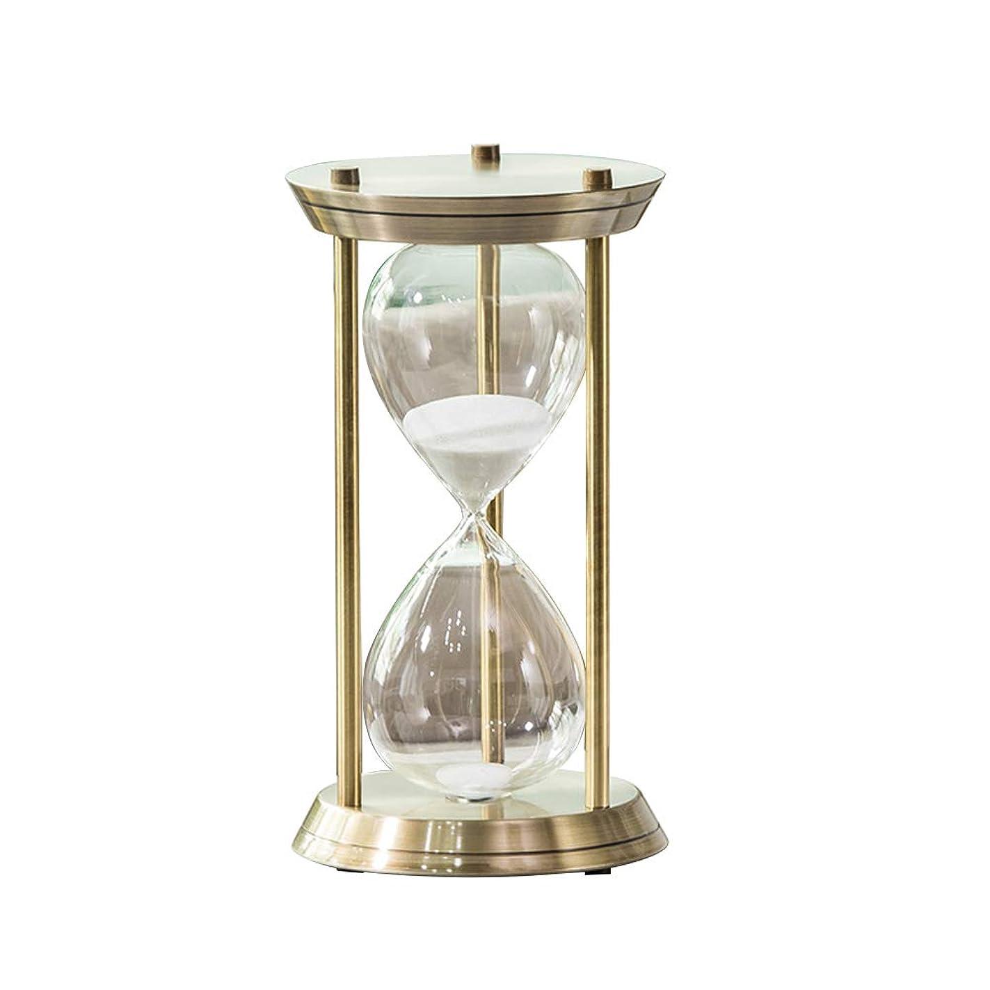 暖炉風邪をひく確立します3本の柱 時間 砂時計タイマー インテリアタイマークリエイティブ砂タイマー金属 オフィスデスクトップ装飾 ブロンズ 30分
