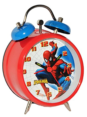 Kinderwecker -  Spider-Man  - Kinder Wecker / Metallwecker Metall - Alarm Analog Amazing Spiderman Spinne Spider-Man Jungen