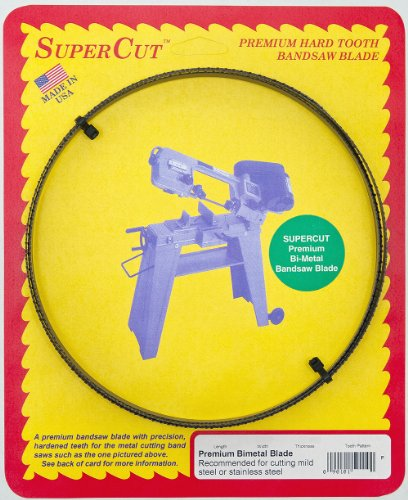 SuperCut 50110 64 1/2-Inch by 1/2-Inch by 0.025 by 10-14 T.P.I. Premium Bimetal Bandsaw Blade Recommended for Cutting Mild Steel or Stainless Steel