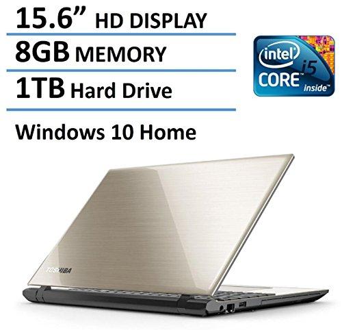 "Toshiba 2016 New Edition Satellite L55 15.6"" High Performance Laptop with Flagship Specs, Intel Core i5-5200U Processor, 8GB Memory, 1TB Hard Drive, DVD SuperMulti Drive, Windows 10, Satin Gold"