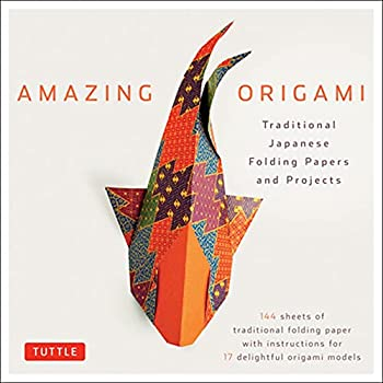 Amazing Origami Kit  Traditional Japanese Folding Papers and Projects [144 Origami Papers with Book 17 Projects]