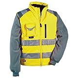 Cofra Signal - Giacca e gilet ad alta visibilità, 2 in 1, colore: giallo fluorescente, 40-00V02300-50