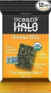 Ocean's Halo Seaweed Snacks (1 Case of 12 Units Trays) Korean BBQ