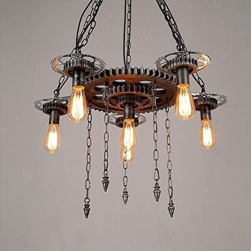 Hanglamp kroonluchter lamp loft persoonlijkheid metaal plafondlamp, hanglamp retro Edison Gear Interior lamp woonkamer tafellamp retro vintage Industrial Light.