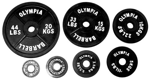 Ader Black Olympic Plate Set (255Lbs)