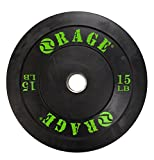 Rage Fitness PRO Olympic Bumper Plate (Sold Individually- - 10lb, 15lb, 25lb,...
