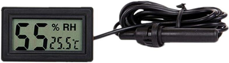 Sonda LCD Digital Mini Termómetro Integrado Higrómetro Medidor de Humedad Medidor Sonda para Reptil