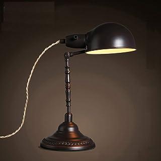 GH-YS Loft Creative Retro Lampenschirm Schreibtisch Lampe Schmiedeeisen Schreibtisch Leselampe Schlafzimmer Nachttisch Vin...