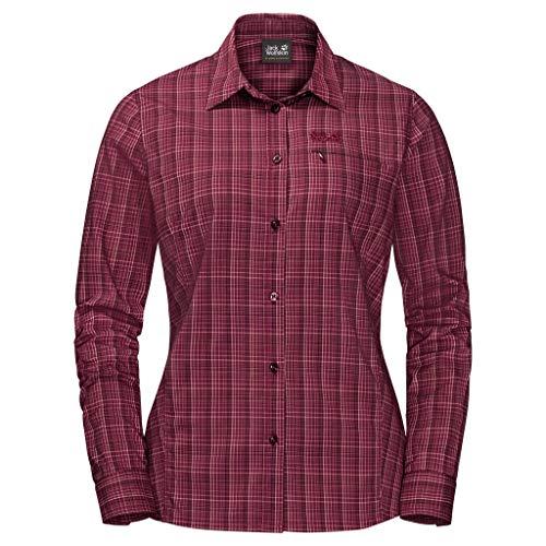 Jack Wolfskin Damen Centaura Flex Shirt, Fall red, M, 1401921