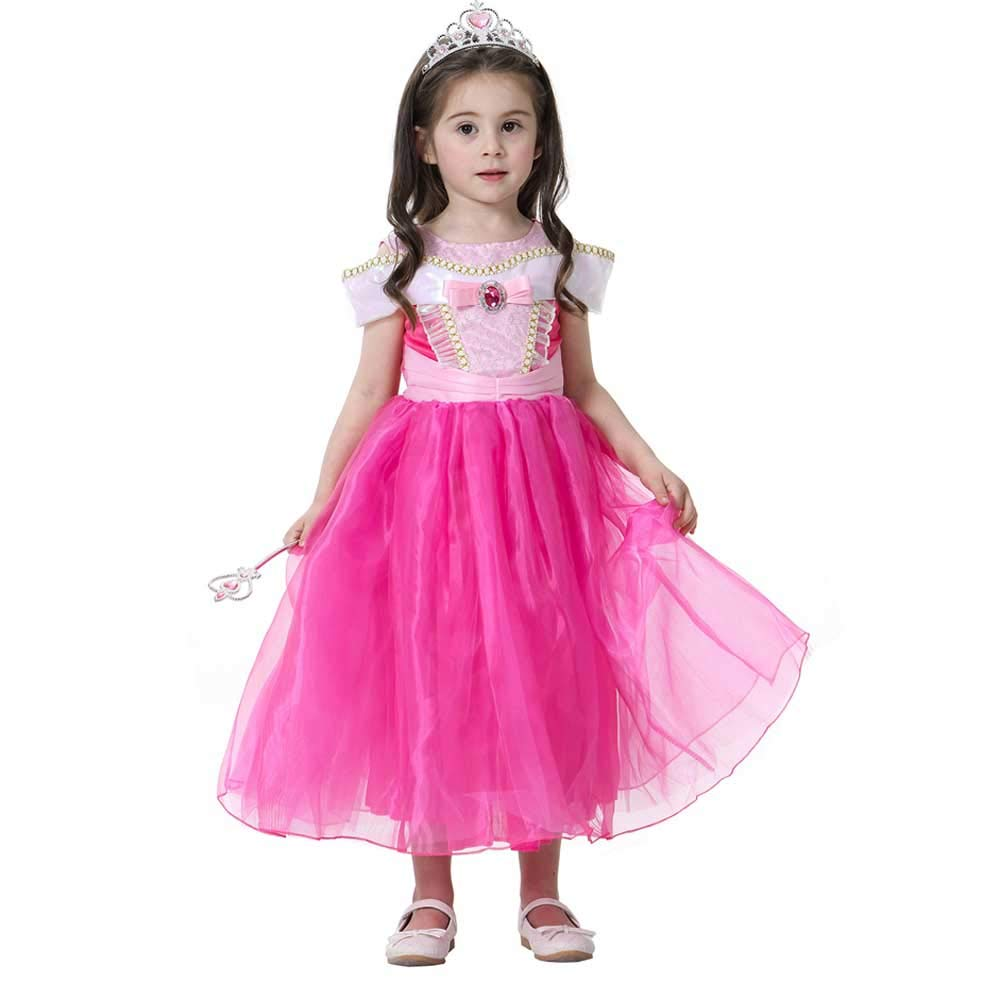 Aurora - Disfraz de Princesa para niñas con Hombros Descubiertos ...