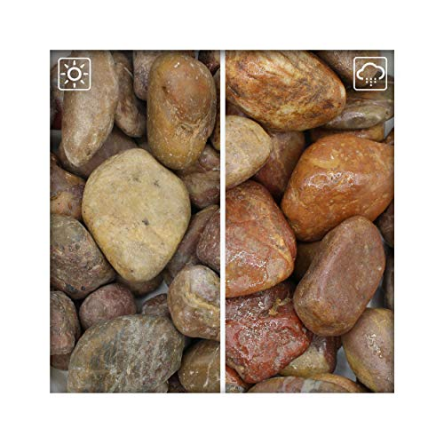 Kieskönig Roter Zierkies Flusskiesel River Pebbles Gartenkies Gartenteich 30/60 15 kg