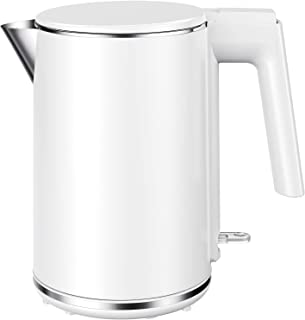 SUNDUO Electric Kettle 1L, Double-wall Anti-scalding 1500W Fast Heating Electric Tea Kettle, Auto Shut-Off & Boil-Dry Prot...