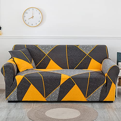 WXQY Blumensofabezug für Wohnzimmer, Flexible Sofabezug, staubdichte All-Inclusive-Ecksofa Handtuch Sofabezug A9 1-Sitzer