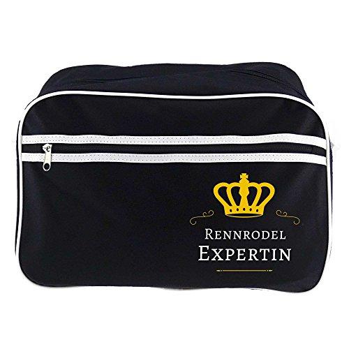 Retrotasche Rennrodel Expertin schwarz