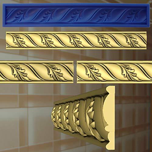 Stuck Negativform Gießform Silikonformen für Gips Verzierung Dekor Relief 10
