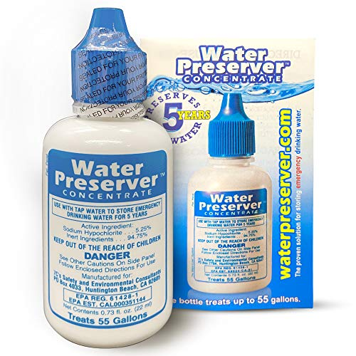 55 Gallon Water Preserver Concentrate (5 years) Water Treatment Drops - Water Treatment For Drinking Water - Mayday Emergency Drinking Water - Defiance Fuel Water - Earthquake Water, Emergency Storage