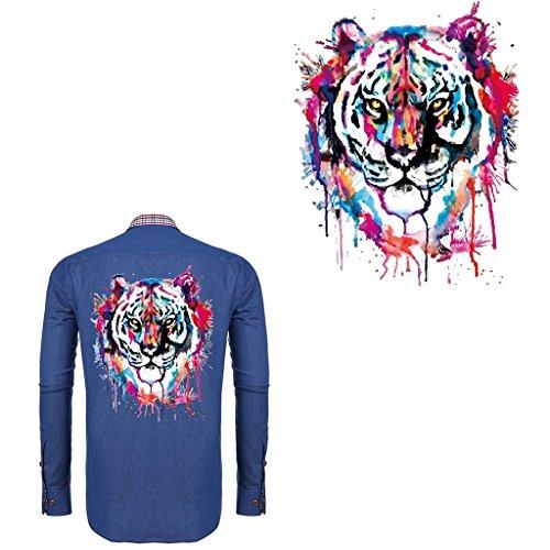 Dabixx - Toppa termoadesiva per vestiti e toppe con tigre, per fai da te