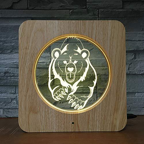 Big Running Bear Wildtier 3D LED Kunststoff Nachtlicht DIY Customized Lampe Tischlampe Kinder Farbwechsel Geschenk Home Decoration