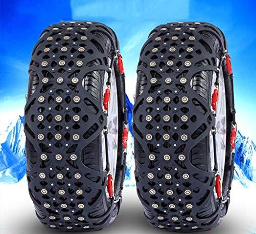 JXXU 2 Stück Ketten for Diamond Alloy Reifen 205 / 55R16 205 / 60R15 205 / 50R16 195 / 65R15 205 / 65R15 195 / 70R14 195 / 65R16 195 / 65R16 205 / 55R17 205 / 50R17 185 / R14 185 / 80R14