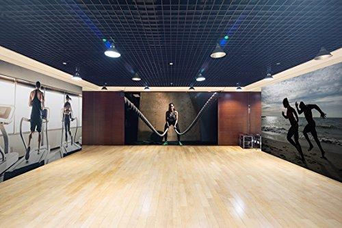 Fotomural Vinilo Pared Deportivo Barato Chica Gym | Fotomurales Pared | Fotomural Decorativo | Mural | Vinilo Decorativo | Varias Medidas 200 x 150 cm | Decoración Gimnasios | Deportes Varios